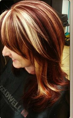 red and blonde♥  Repin & Follow my pins for a FOLLOWBACK!