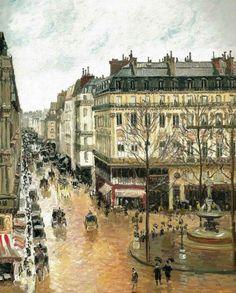 Camille Pissarro Rue Saint Honoré :un après midi par temps de pluie ( 1897)