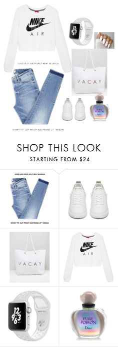 """""""Untitled #2"""" by emina-ahmetovic ❤ liked on Polyvore featuring Golden Goose, South Beach, NIKE and Christian Dior"""