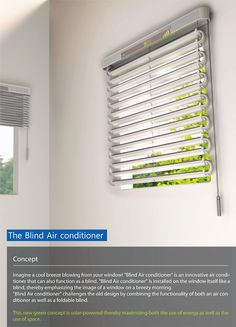 Solar Powered Blinds Air Conditioner