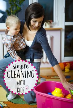 How To Clean With Kids - Tackle the Clutter Monsters with these 20 Ways to Keep a Simple Home With Kids!