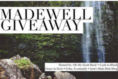 Prize: $150 Madewell Gift Card Co-hosts: Lush to Blush • Grace in Style • Erika, Eventually • Jenn's Blah Blah Blog • Alicia Tenise • My Rose Colored Shades Giveaway organized by: Oh My Gosh ...