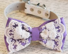 Lavender Dog Bow Tie, Purple Wedding, Pet wedding accessory, Wedding accessory, Victorian wedding, Love Purple