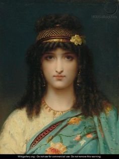An Eastern Beauty - Pierre Oliver Joseph Coomans (Belgian, 1816 - 1889).