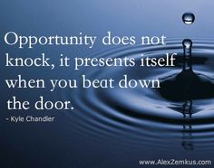 Opportunities Are All Around Us! Are you looking for them? Will you know and recognize it when it knock on your door? Will you be like Edison and persist? http://bit.ly/H2HEIS