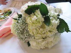 Hydrangea, baby's breath & rose bouquet :  wedding babys breath bouquet bridal bouquet diy flowers hydrangea ivory store bought flowers white Bouquet