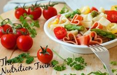 Picture of Romantic dinner. Delicious heart-shaped pasta with tomatoes, asparagus and fresh herbs stock photo, images and stock photography. Shrimp And Asparagus, Shrimp Pasta, Rice Pasta, Low Fat Cooking, Cocinas Kitchen, Summer Recipes, Pasta Recipes, Healthy Eating, Favorite Recipes
