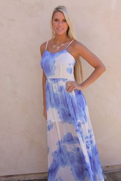 tie dye prom dresses   Prom Dresses   Pinterest   Prom  Free credit     Blue Tie Dye maxi dress ONE LEFT