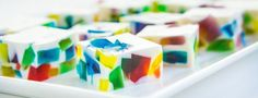 Rainbow colored cubes of edible art! These sweet treats are surprisingly easy to make.
