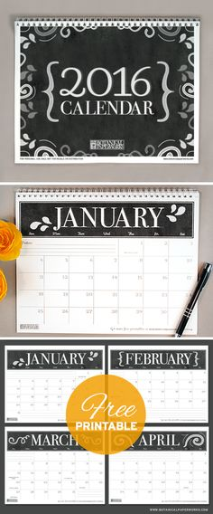 Free Printable Calendars for 2016 — The Hearth Society