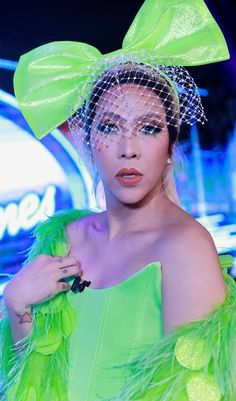 Giving us no less than extravagance, Vice Ganda shows us how it's done to be a real superstar in Idol Philippines. Here are our favorite looks. Michael Cinco Gowns, Vice Ganda, Neon Dresses, Red Bodysuit, Sheer Dress, Her Style, Color Mixing, Philippines, Superstar