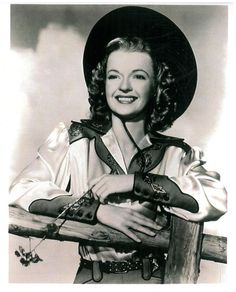 Dale Evans in embroidered satin western shirt