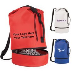 "Custom Printed Sailor Drawstring Duffel Slings: Available Colors: White,Red,RoyalBlue. Product Size: 20"" H X 11"" W. Imprint Area: 7.00"" H x 7.00"" W. Carton Weight: 30 lbs. Packaging: 40. Material: 600d PolyCanvas. #custombags #promotionalproduct #slingbag #drawstringduffel"