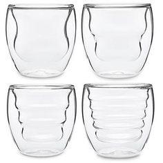 Ozeri Curva Artisan Series Double Wall Beverage Glasses and ...
