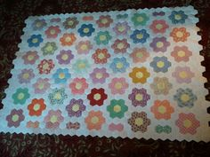 "Grandmother's Flower Garden Quilt Top by ""cowpie2"" from the quiltingboard.com"