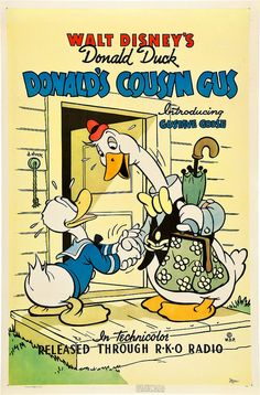 Theatrical poster of Donald Duck in Donald's Cousin Gus.