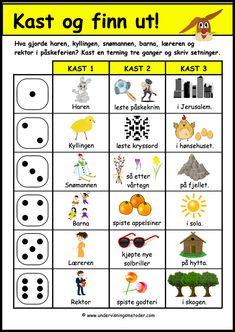 #påske #setninger #begynneropplæring #barneskole Easter, Education, Easter Activities, Onderwijs, Learning