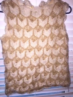 Handmade Crocheted Sleeveless Top Size by PerfectSerendipityCo