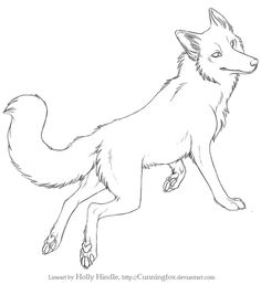 free lineart sitting chill wolf by cunningfox on deviantart
