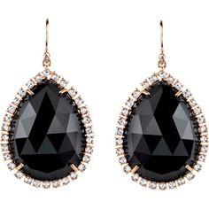 Irene Neuwirth Black Onyx & Diamond Earrings at Barneys.com