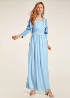 Modne sukienki na wesele, kreacje z koronki i tiulu - fashion4u.pl Heine, Material, Dresses, Design, Products, Fashion, Light Blue, Evening Dresses, Pattern