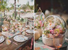 Desert Blooms Bridal Shower - love this tablescape!