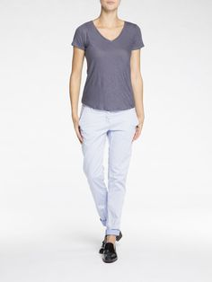 Basic Linen Blend T-Shirt|Jersey s/s tee's & tops|Woman Clothing at Scotch & Soda