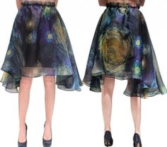 Starry Night Inspired Skirt. I've always wanted this skirt, but have never actually purchased it myself. It would be a wonderful surprise gift if someone got it for me!