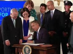 "http://www.advocate.com/sites/advocate.com/files/imagecache/stories/B.-Obama-2-x400.jpg  WATCH: Obama Signs LGBT Exec. Order  By adding the words ""sexual orientation"" and ""gender identity"" to two existing executive orders, the President made it illegal for companies that contract with the federal government to fire, decline to promote, or refuse to hire someone simply because they are LGBT. The order, which takes effect immediately, will protect an estimated 20 percent of American workers"