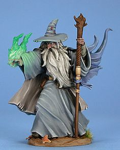 Ancient Male Mage - Easley Masterworks - Miniature Lines...painted by Matt Verzani...Dark Sword Miniatures.