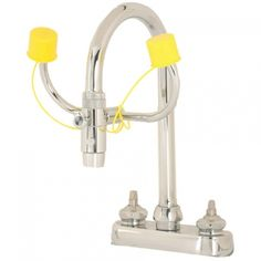 Black Friday 2014 Bradley Safety Eyewash, Faucet Mount, GPM Water Flow, Width x Height from Bradley Emergency Fixtures Cyber Monday Eye Wash Station, Brass Pipe Fittings, Emergency Equipment, Medical Office Design, Emergency Response, Water Supply, Water Flow, Chrome Plating, Faucet