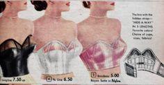 1950s strapless bras Sweater Girls and Bullet Bras #bulletbra #secretsinlace