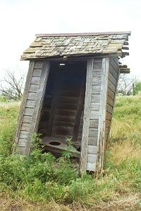 Nebraska Outhouse-which way will it fall?