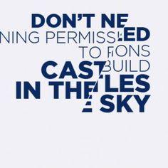 Don't need planning permissions tu build castles in the sky | #copertina #facebook #silviamessina #design #illustrations #illustrator #adobe #quotes #planning #permission #build #costruire #castles #sky #need #bisogno #cielo #castelli #aria #permesso