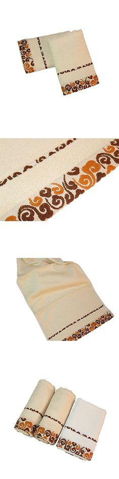 ZGK-TOWEL 100% Bamboo Fiber Hand Towel Luxury Home Washcolth Bathroom Hotel SPA Travel Microfiber Wash Cloth Outdoor Soft Towels Set Brown,2-Piece Set
