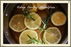 Vintage Country Style: DIY William Sonoma Lemon Rosemary Room Scent