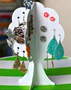 Tree Cardboard Earring Box|DIY Earring Holder Ideas,see more at: http://diyready.com/diy-earring-holder-ideas/