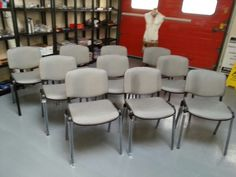 All the training chairs have arrived for the trainees  #leatherrepair #leathertraining