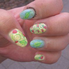 Nail ideas Summer nails. Nail stamping