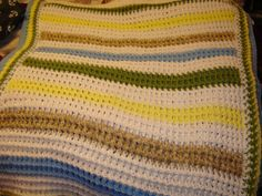 Front post crochet Blanket