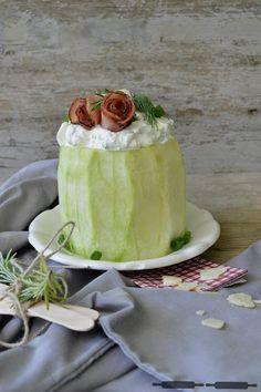ABOUT VERENA : Pikante Melonentorte mit Prosciutto-Rosen / spicy Melon Cake with Prosciutto Roses