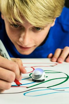 Ozobot can follow what you draw!
