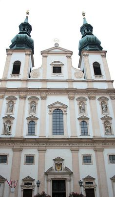 Vienna, Jesuit church. Highly ornate interior and wonderful choir with orchestra sing the mass every Sunday at 10.30 am