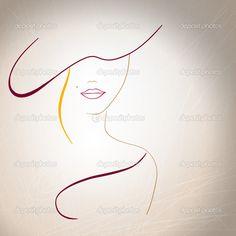 Абстрактный силуэт женщины с родинка на губах и шляпу — стоковая иллюстрация #30686007 Outline Drawings, Art Drawings, Pencil Art, Pencil Drawings, Silhouettes, Art Pastel, Single Line Drawing, Minimalist Drawing, Wire Art