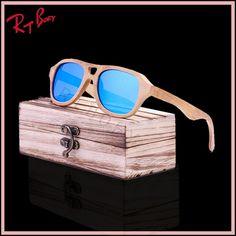 2017 New Fashion Products Men Women Glass Wood Polarized Sunglasses Retro Wood Lens Wooden Frame Handmade UV400 Free shipping
