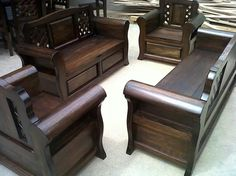 Teak Wood Sofa Set Philippines Ardmore Stationary Sala Ideas Google Search Living Room Mueble Rustico Wooden Furniture