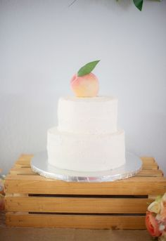 Cake for peach-themed birthday party