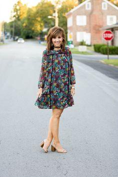 Fall Fashion-Babydoll Dress - Grace & Beauty