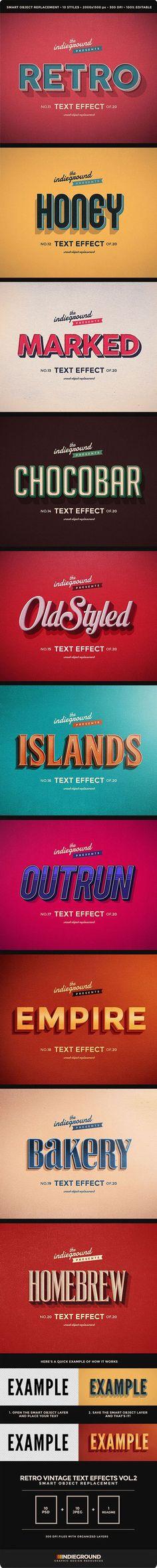 40 effets & scripts originaux pour vos typographies avec Photoshop