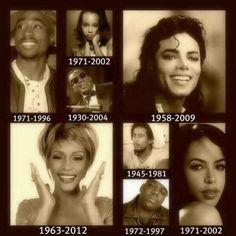 History's Melodies-Tupac, Lisa (Left Eye) Lopez, Michael Jackson, Ray Charles, Whitney Houston, Bob Marley, Christopher ( Biggie-Big Papa) Wallace, Aaliyah
